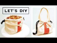 Sewing For Beginners DIY Drawstring bag Hobo Bag Tutorials, Dress Sewing Tutorials, Sewing Ideas, Cosmetic Bag Tutorial, Handbag Tutorial, Paper Piecing, Wooden Handle Bag, Simple Bags, Sewing For Beginners