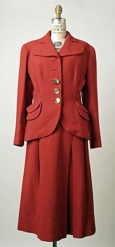 Schiaparelli Suit, c 1952