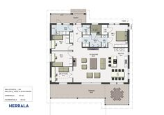 Taavi pohjapiirustus Floor Plans, Architecture, Inspiration, House Ideas, Home, Decorations, Biblical Inspiration, Ad Home, Homes