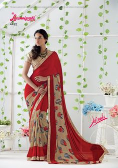 Browse the Maroon Georgette Saree and Beige Bhagalpuri Blouse along with Bhagalpuri Lace Border with Dewdrops online at www.laxmipati.com #Catalogue: #JAIMALA #Design Number: 4492 #Price - ₹ 1742.00.00   #Bridal #ReadyToWear #Wedding #Apparel #Art #Autumn #Black#Border #MakeInIndia #CasualSarees #Clothing #ColoursOfIndia #Couture #Designer #Designersarees #Dress #Dubaifashion #Ecommerce #EpicLove #Ethnic #Ethnicwear #Exclusivedesign Laxmipati Sarees, Georgette Sarees, Saree Shopping, Dubai Fashion, Lace Border, Saree Styles, Printed Sarees, Daily Wear, Bridal Collection