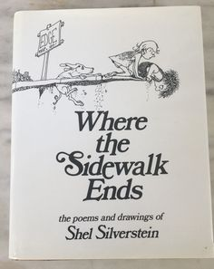 vintage Where the Sidewalk Ends book by Shel Silverstein, 1974 edition. hardcover dustcover,  children's poetry, Gypsies are Coming by MotherMuse on Etsy