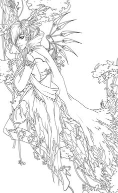 Anime Coloring Pages Various Anime Colotring Pages Coloring