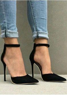 23a7aafcd9c6 Women Summer High Heels Sandals for Girls Flock Ankle Strap Sandals Concise  Classic Zipper High Heels Sandals