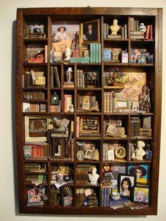 BAGUS: Libreria in miniatura a tema Didina et Pinguina Library miniature theme Didina et Pinguina