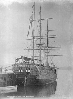 The prison ship,Success at Hobart,Tasmania. Launched 1840 and destroyed by fire in 1946.Initially a merchant ship and was later sold to England. It made three voyages with emigrants to Australia during the 1840s.