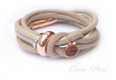 CASA Pari ® opulentes Nappaleder Armband ROSEGOLD von CASA Pari® auf DaWanda.com