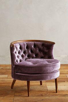 Anthropologie Slub Velvet Bixby Chair