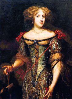 Princesse Palatine Elizabeth Charlotte (1652-1722) Princesse allemande, dite Madame,l'épouse de  Philippe I, Duc d'Orléans, jeune frère de Louis XIV de France