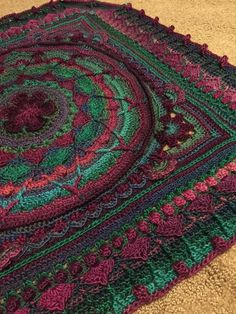 Beautiful Sophie's Universe in Red Heart's Unforgettable Yarn, by Sharon Witzig from the OFFICIAL CCC SOCIAL GROUP pattern by Dedri Udys