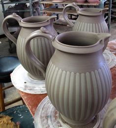 these are beautifulJohn Bauman click now for more info. Pottery Mugs, Pottery Bowls, Ceramic Pottery, Pottery Art, Slab Pottery, Ceramic Pitcher, Ceramic Clay, Ceramic Birds, Clay Teapots