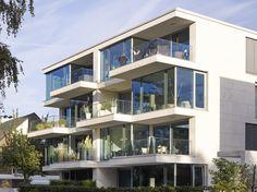 Haus am See, Münster, by Kresings Modern Architecture House, Modern Buildings, Residential Architecture, Architecture Models, Architecture Student, Beautiful Architecture, Modern Townhouse, Townhouse Designs, Minimalist House Design