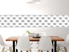 Küchenbordüre Teller und Besteck - I-love-Wandtattoo.de