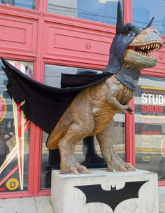 Batman Dinosaur in Pittsburgh- I'm oddly in favor of this statue, even though it lacks sensible reasoning.