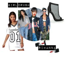 """""""GIRL CRUSH - RIHANNA"""" by missguided ❤ liked on Polyvore"""