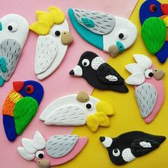 Polymer Clay Magnet, Clay Magnets, Polymer Clay Animals, Polymer Clay Projects, Polymer Clay Beads, Polymer Clay Miniatures, Polymer Clay Creations, Handmade Polymer Clay, Diy Clay Earrings