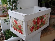 shabby chic wooden crate
