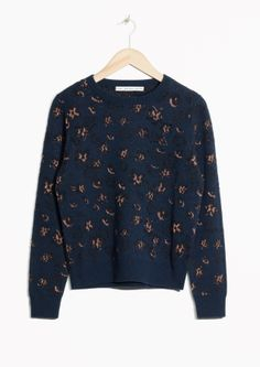 & Other Stories | Metallic Flowers Sweater