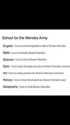 There needs to be a school like this for real and Shawn can be my bf omg imagine that