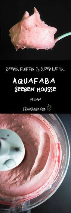 Aquafaba Mousse | 3 Zutaten | vegan, Einfache Beeren Mousse #aquafaba #mousse #creme #beeren #dessert #vegan #softeis