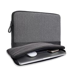 11-11.6 Inch Macbook Air / Surface / iPad Laptop Sleeve, Herringbone Woollen & Leather Water-Resistant Protective Sleeve Carrying Case Cover Bag by Gearmax (Gray) #Inch #Macbook #Surface #iPad #Laptop #Sleeve, #Herringbone #Woollen #Leather #Water #Resistant #Protective #Sleeve #Carrying #Case #Cover #Gearmax #(Gray)
