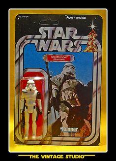 Vintage 1977 Kenner Star Wars Stormtrooper SANDTROOPER Custom Figure 3.75