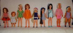 CRISSY LOT! 8 DOLLS, 8 FULL OUTFITS, 8 PAIRS OF SHOES and HAIR ACCESSORIES! | eBay