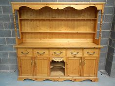Pine Welsh, Kitchen, Farmhouse Dresser. Display Cabinet ,cupboard, sideboard.  $542.22 from England