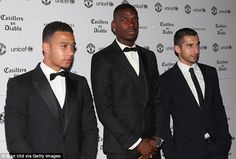 Jose Mourinho and his Manchester United stars attend UNICEF gala at Old Trafford | Daily Mail Online