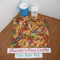 Grapes and Gourds Tater Baker Bag for Microwave