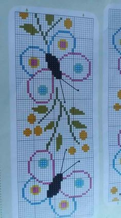 Butterfly Cross Stitch, Cross Stitch Borders, Cross Stitch Charts, Cross Stitch Designs, Cross Stitching, Cross Stitch Embroidery, Cross Stitch Patterns, Burlap Cross, Swedish Weaving