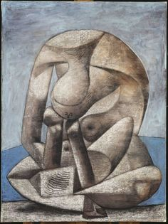 Pablo Picasso [Spanish Cubist Painter and Sculptor, Young Girl Reading a Book on the Beach 1937 Oil, charcoal and pencil on canvas Kunst Picasso, Art Picasso, Picasso Paintings, Paintings Famous, Indian Paintings, Pablo Picasso Young, Tomie Ohtake, Georges Braque, Spanish Painters