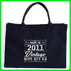 Born In 2011 Vintage Never Gets Old Birthday Gift - Tote Bag - Totes (*Amazon Partner-Link)