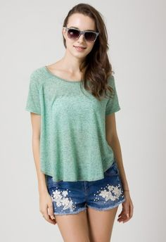 #Chicwish Mint Wrapped Crop Top