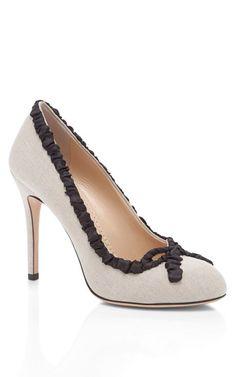 Shop Black Yvette Pump by Charlotte Olympia Now Available on Moda Operandi