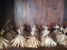 Halloween witch broom treat bag