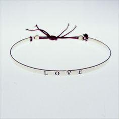 Bracelet jonc plat noué Love-Argent
