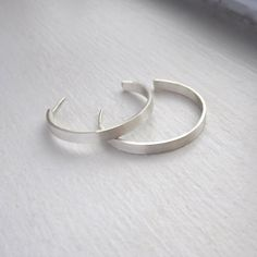 Sterling silver rectangle circle hoop by VirginiaWynne on Etsy