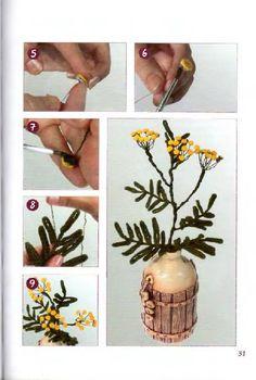 Объемные цветы из шерстяных ниток. Комментарии : LiveInternet - Российский Сервис Онлайн-Дневников