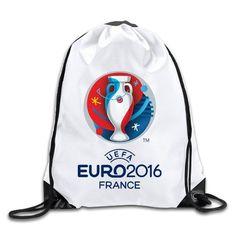 f8ba2cb697994 PiLnMMk Unisex UEFA Euro 2016 Logo Gym Drawstring Bags Backpack - of the  month coupon