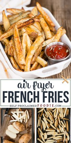 If you're craving hot crispy thick cut homemade fries but don't want something that is greasy and deep fried, these flavorful Air Fryer French Fries are amazingly delicious! Just the right amount of olive oil and seasonings over freshly cut russet potatoes create the most delicious, melt-in-your-mouth, golden brown french fries.