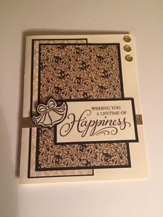 CTMH wedding card with Yuletide paper by Stacey Taylor Anthony