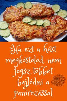 Rém egyszerű, de nagyon finom étel. #rántott #hús Pork Recipes, Chicken Recipes, Cooking Recipes, Healthy Recipes, Delicious Dinner Recipes, Yummy Food, Crab Mac And Cheese, Hungarian Recipes, Seafood Dishes