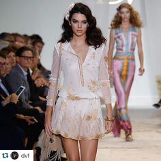 #Repost @dvf ・・・ In motion: @kendalljenner struts down the runway #SS16 #NYFW.  Gorgeous #proudmama