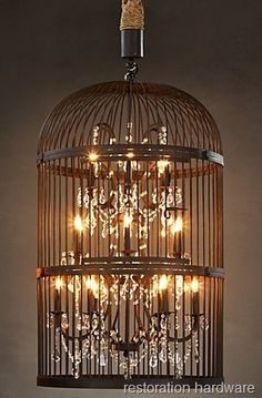 Restoration Hardware Birdcage Chandelier the Thrifty Way!