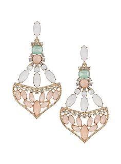 Pastel jewel earrings