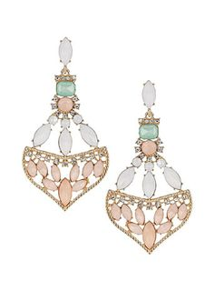 Pastel statement earrings - $22