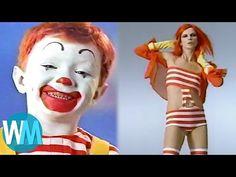 Top 10 Weirdest McDonald's Commercials Mcdonalds, Ronald Mcdonald, Weird, Funny Memes, Commercial, Youtube, Hamburgers, Tops, Restaurants