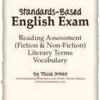 English reading assessment and vocabulary diagnostic test with answer keys.  (Aligned with the Common Core State Standards for reading-literature, ...