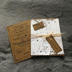 Tarjeta de Matrimonio Vintage por #ViCani_Design