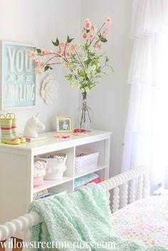 A Sunny Girl's Bedroom Reveal Girl Room, Bedroom Makeover, Big Kids Room, Bedroom Decor, Room Makeover, Bedroom Inspirations, Toddler Girl Room, Baby Girl Room, Toddler Bedrooms